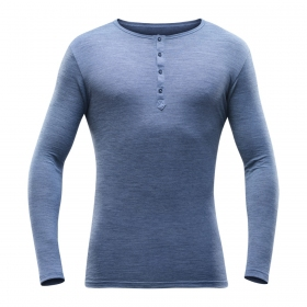 Koszulka męska z guzikami Devold Hessa (Lifestyle)